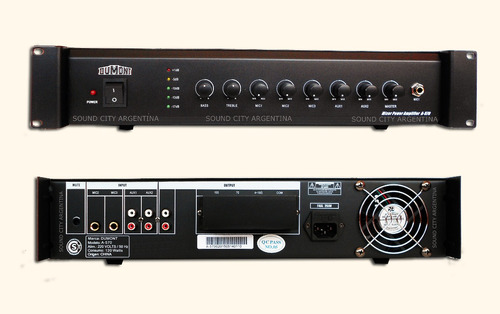 dumont a570 amplificador música funcional 70 watts factura a