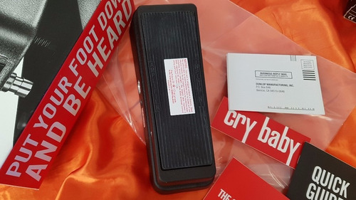 dunlop wah crybaby classic gcb95 indutor fasel + nota fiscal