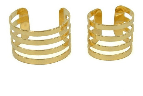 duo anel gladiador + falange banhado