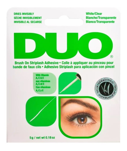duo cola para cílios postiços original com pincel aplicador