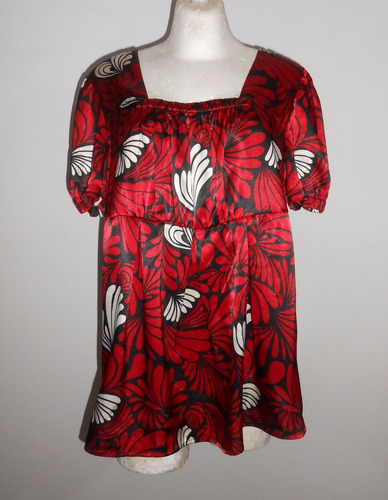 duo maternity moderna blusa de maternidad roja con negro xl