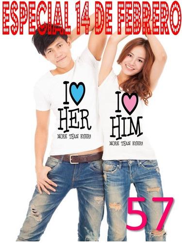 duo playeras novios parejas personalizadas amor  m86