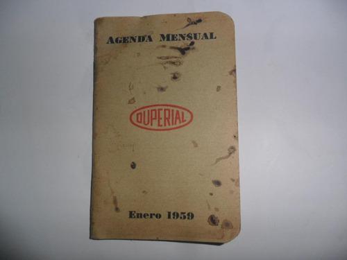 duperial 1959 almanaque calendario terylene anilinas pigment