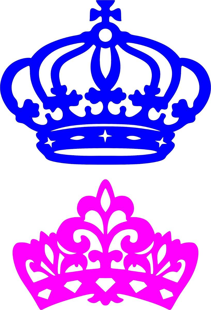 dupla coroas mdf provençal festa príncipe e princesa 50cm r 77 87