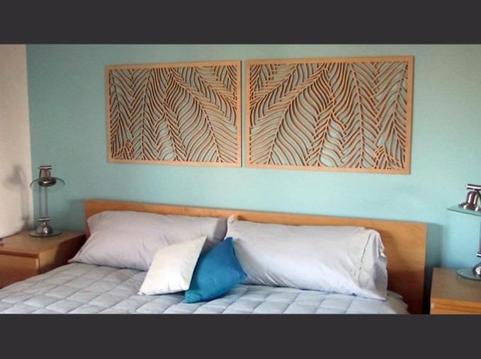 Dupla paineis mdf quadro vazado p parede cabeceira da - Telas decorativas para paredes ...