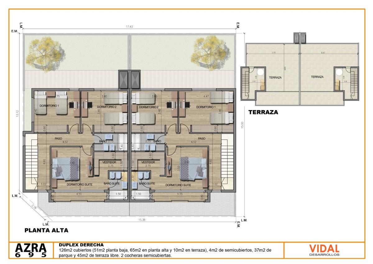 duplex 126m2 cub 2 cocheras incluidas lomas recidencial