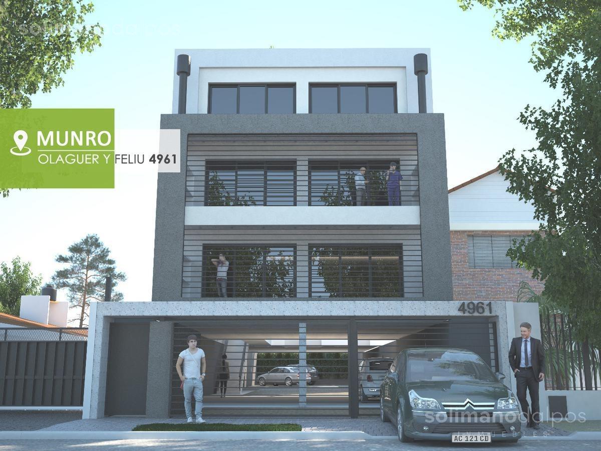 duplex 2 ambientes con balcon y parrilla  - munro