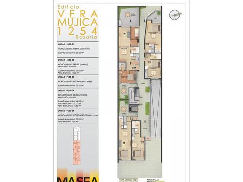 duplex 2 dormitorio al contrafrente (vent. cruzada) - terraza exclusiva de 42 m2  vera mujica 1254