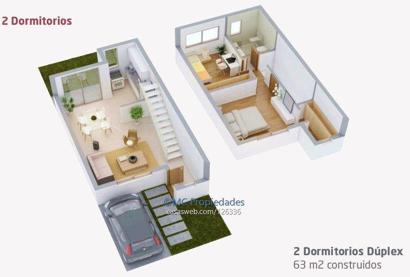 duplex 2 dormitorios y cochera