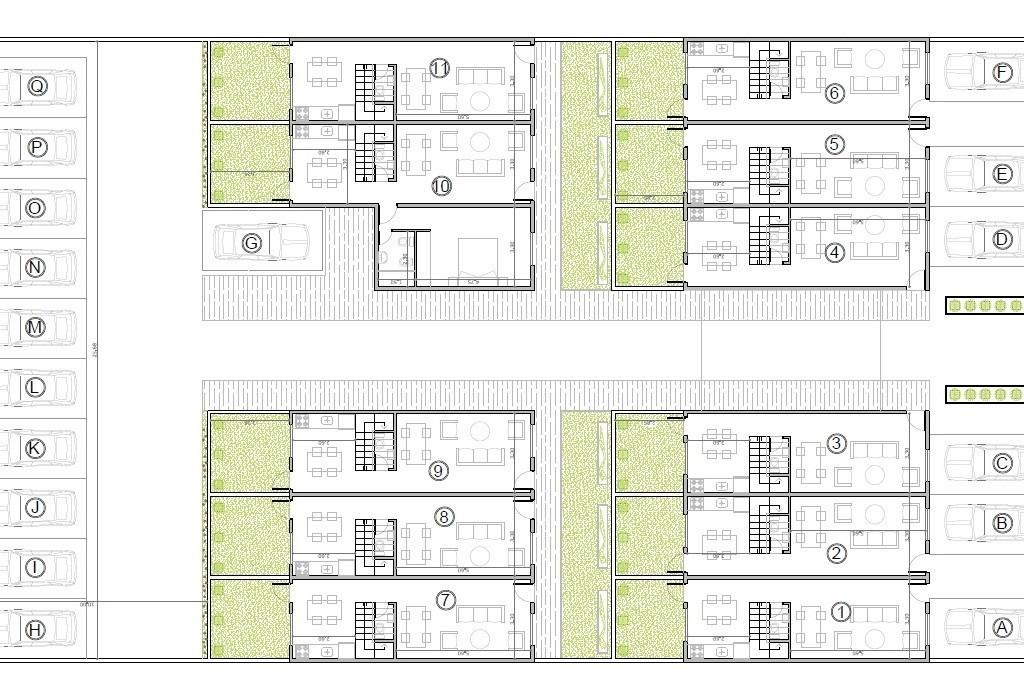 duplex 3 ambientes con cochera obra en pozo
