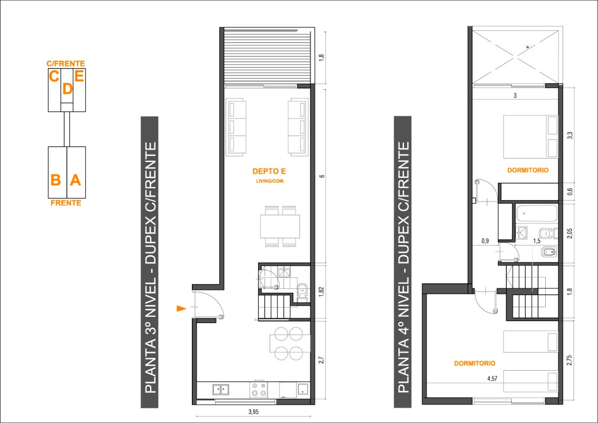 duplex 3 ambientes - tigre centro
