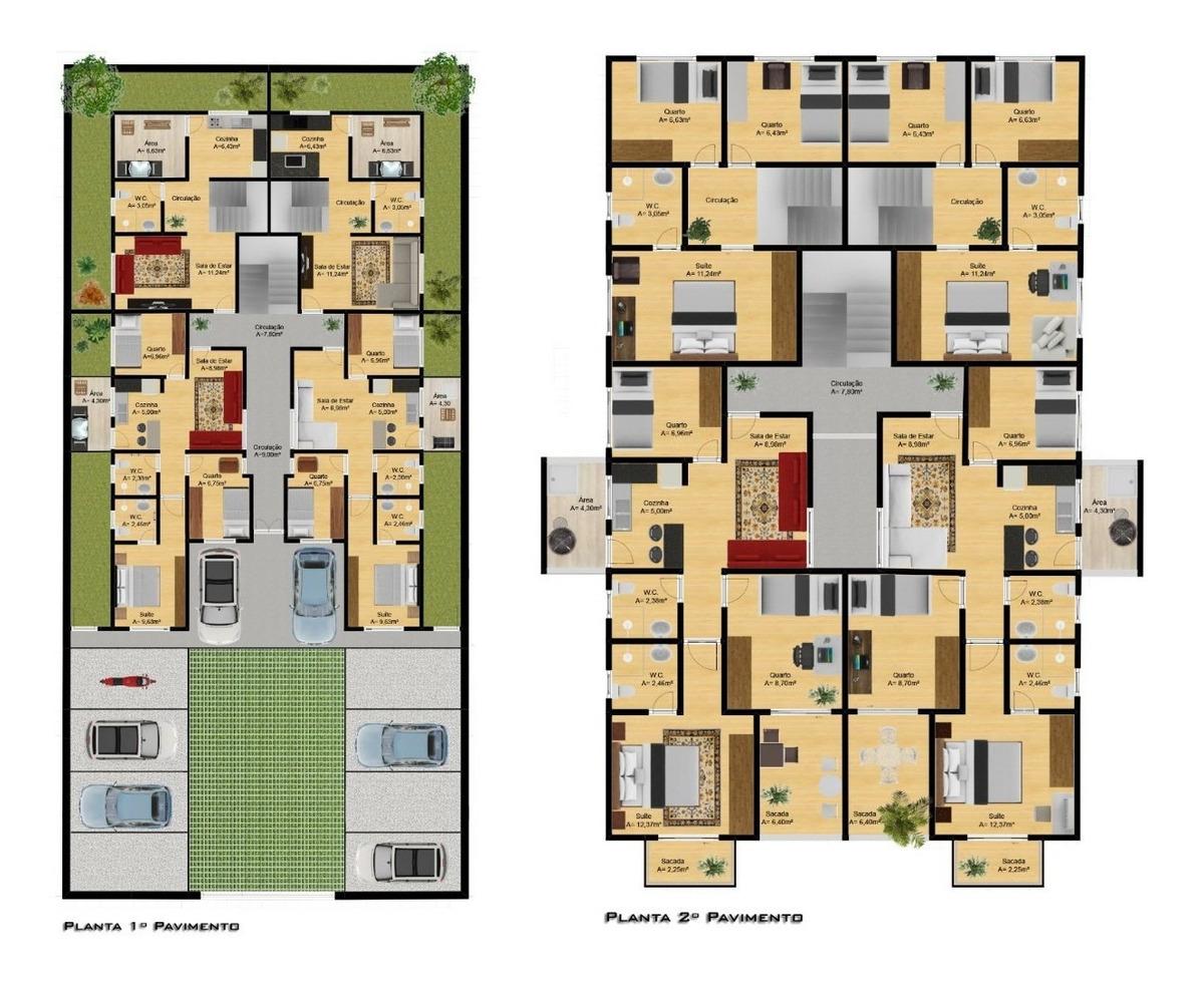 duplex com 3 quartos e suíte