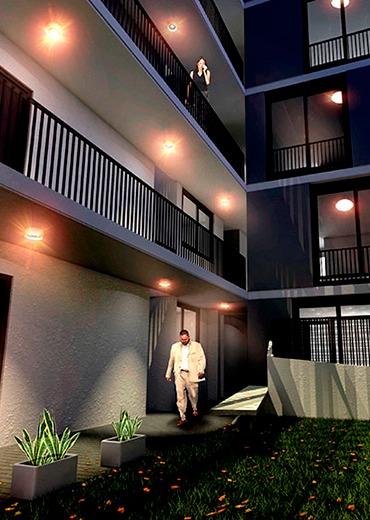 duplex de 2 dormitorios al frente con balcón y terraza exclusiva