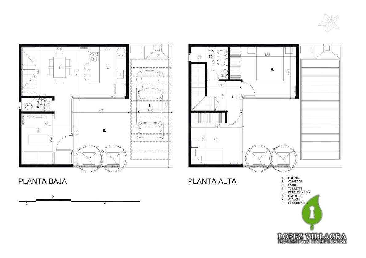 duplex / departamentos 2 dor. centro de villa allende con pileta
