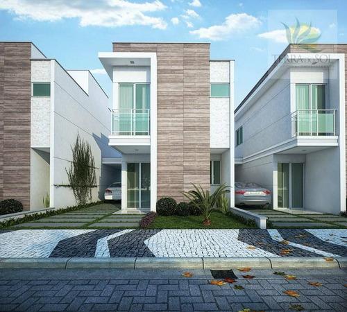 duplex em condomínio com 3 quartos e lazer completo no eusébio. - ca0557