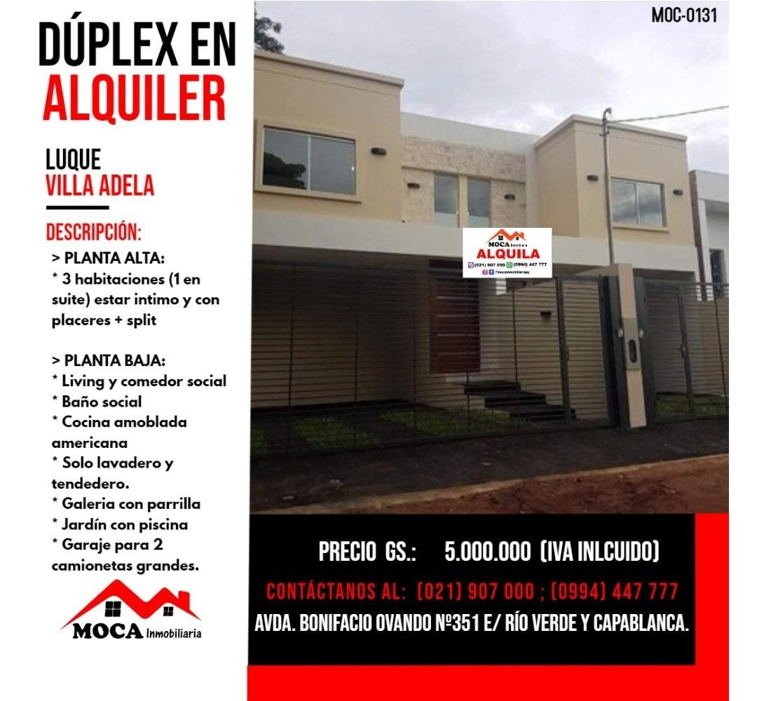 dúplex en alquiler luque, moc-0131