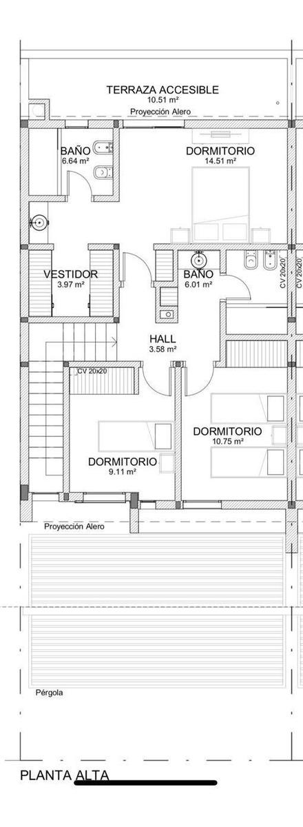 duplex en venta de 3 dormitorios, en barrio cerrado chacras del norte, zona norte