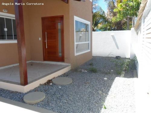 duplex para locação em rio das ostras, praia mar, 3 dormitórios, 1 suíte, 2 banheiros, 2 vagas - amc - 0657