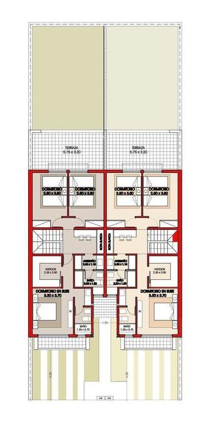 duplex premium en claros del bosque (zona sur) 3 dormitorios 2 cocheras