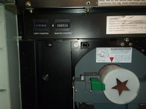 duplicadora riso ra/rc 6300 incluye  tres tambores