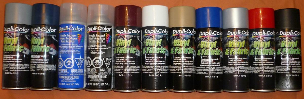 Duplicolor vinily molduras varios colores pintura en - Pintura en spray para plastico ...