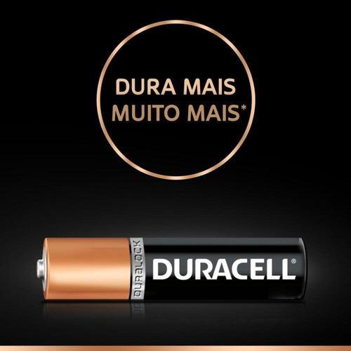 duracell duralock pilha alcalina aaa c/ 4 unidades