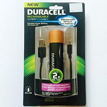 duracell pro515 batería externa portátil recargable, 2600mah