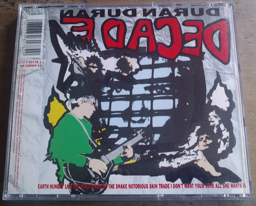 duran duran decade cd hecho en australia 1989  bvf