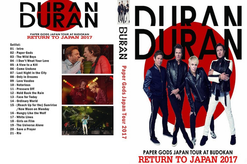 duran duran - japon 2017 (bluray + dvd)