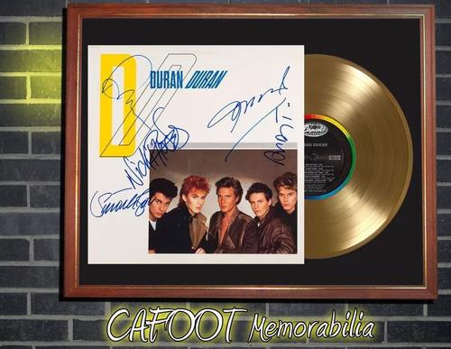 duran duran tapa lp autografiada y disco oro enmarcados
