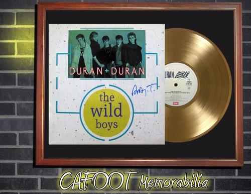 duran duran the wild boys tapa lp autografiada y disco oro