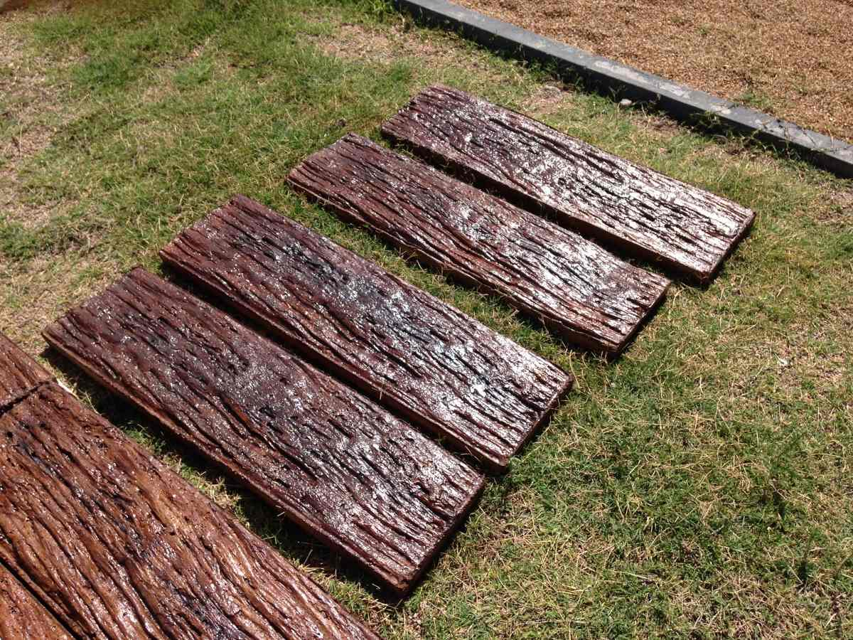 Durmientes de hormig n imitaci n madera 800 00 en - Hormigon imitacion madera ...