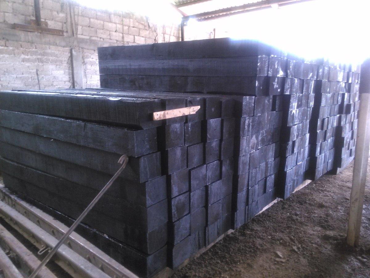 Durmientes de madera nuevos via de ferrocarril for Precio del mercado de concreto encerado