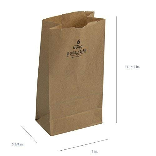 duro id # 18406 6 # sos bag 35 # 100% kraft natural reciclad