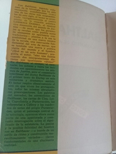 durrell balthazar cuarteto de alejandría t. aurora bernardez