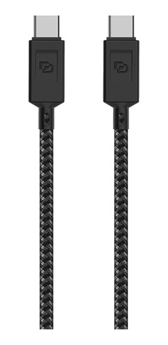 dusted cable usb-c a usb-c, usb 3.2, 1.2 mt rugged negro