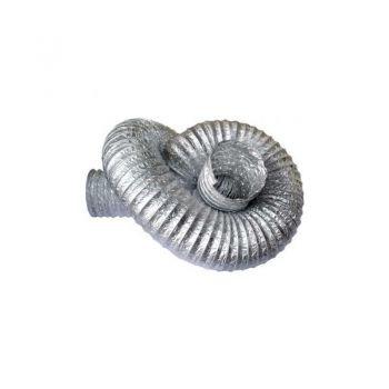 duto flexivel aluminizado diam. 22 pol.-560mm (rolo c/10mts)