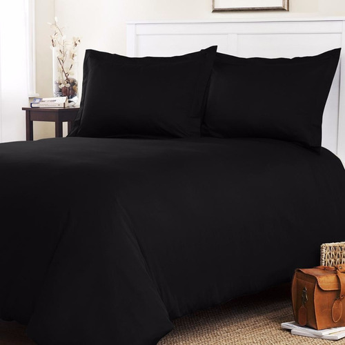 duvet cover negro semidoble gamuzado