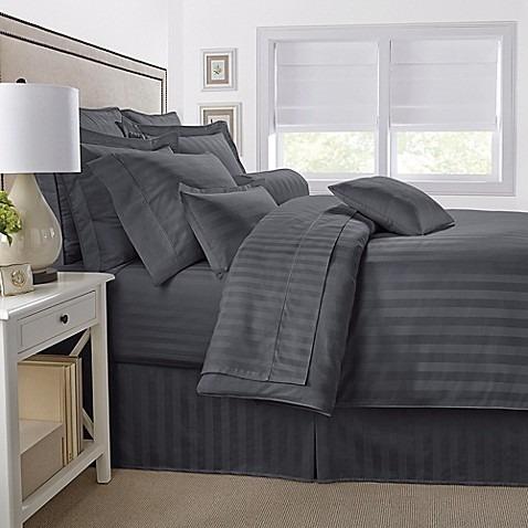 duvet king stripe + plumón + fundas 4 piezas