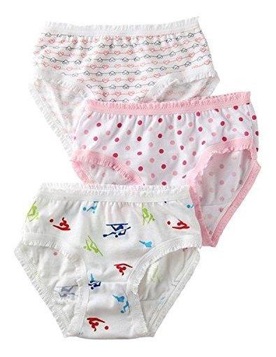 DVANIS 3-Pack Little Girls Underwear Hipster Briefs Knickers Color Random