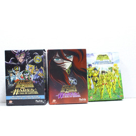 Dvd - Box Cavaleiros Do Zodiaco Hades Completo 3 Box Eliseos