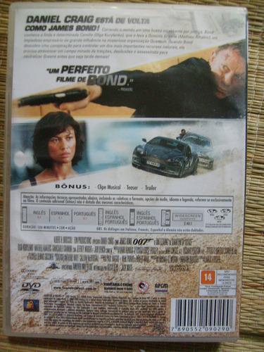dvd 007 quantum of solace daniel craig 100% original usado