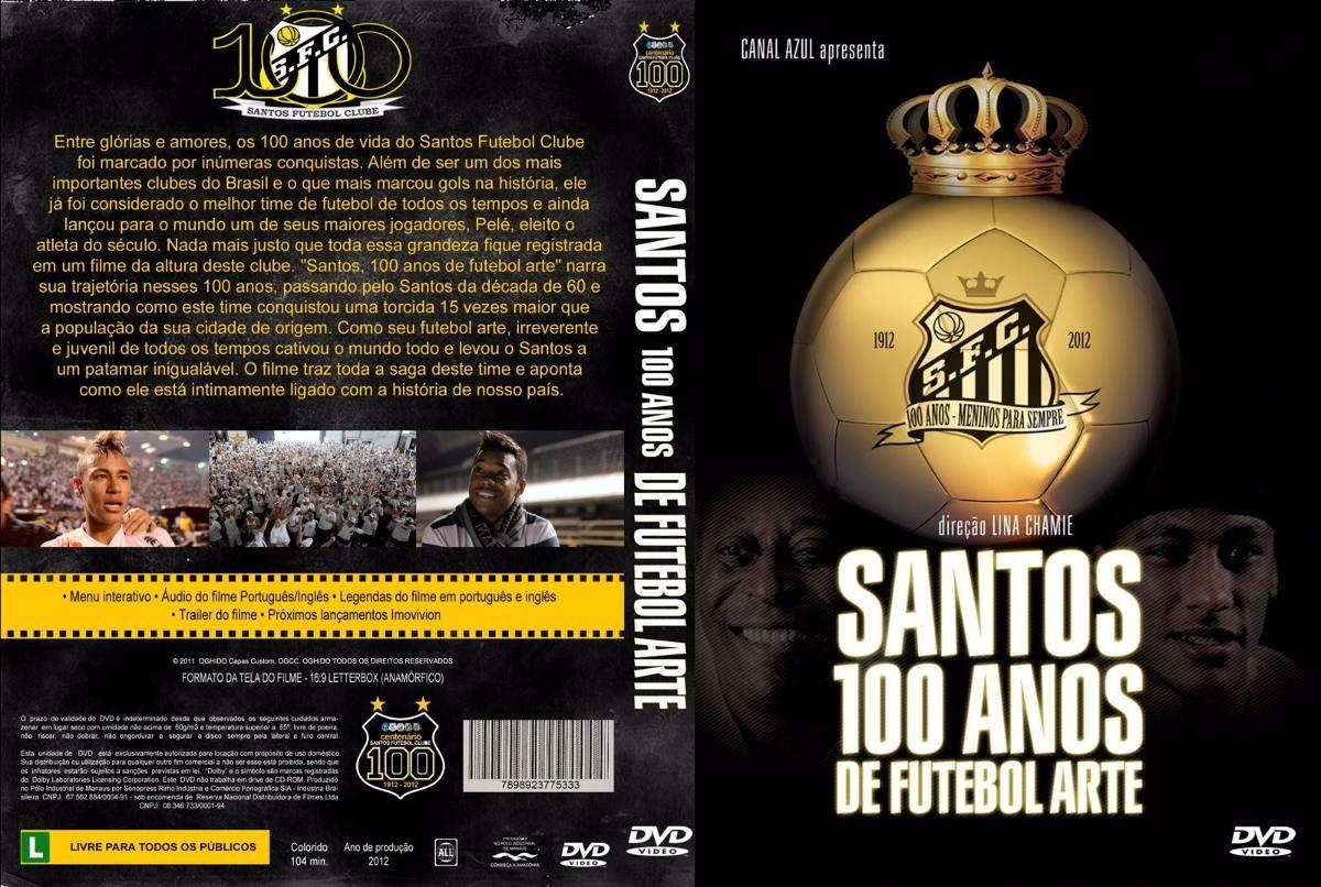 9dc30f4e9f Dvd 100 Anos De Futebol Arte - Santos Futebol Clube Lacrado - R  210 ...