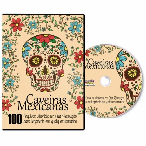 Dvd 100 Caveiras Mexicanas Para Imprimir E Colorir R 22 50 Em