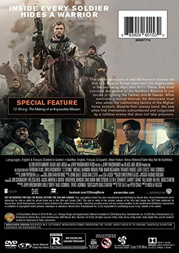 dvd : 12 strong (full frame, dolby, ac-3, dubbed, )