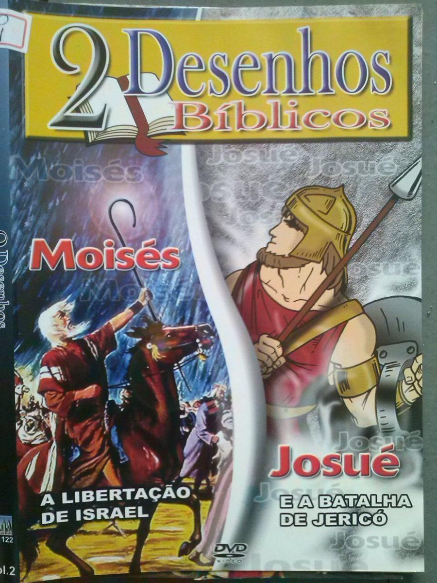 dvd 2 desenhos bíblicos moisés e josué r 12 70 em mercado livre
