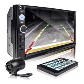 Dvd 2 Din Central Multimídia Universal Mp5 Câmera Bt Espelha