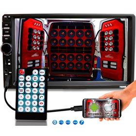 Dvd 2 Din Multimidia Bluetooth Usb Sd Tela 7 Hd Espelhamento