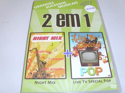 dvd 2 em 1 musical  night mix e live tv especial