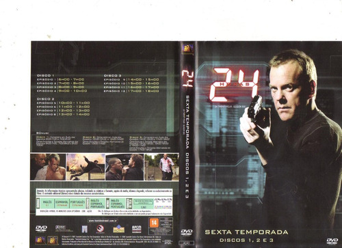 dvd 24 horas - sexta temporada - discos 1, 2 e 3, original